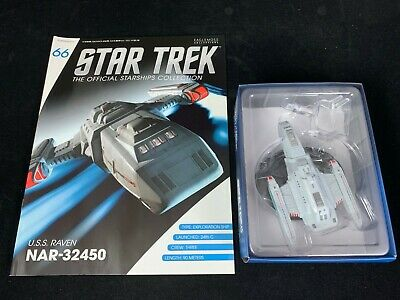 Eaglemoss Star Trek Collection- Starship & Magazine #66 - Uss Raven Nar-32450