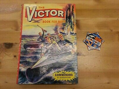 D C Thomson Victor Book For Boys Commandos Tin Plate Spinner Puzzle Vg/Gd
