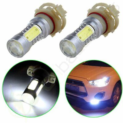2x Projector 60W White H16 5202 PS24W LED Bulbs For Fog Lamp Daytime Lights