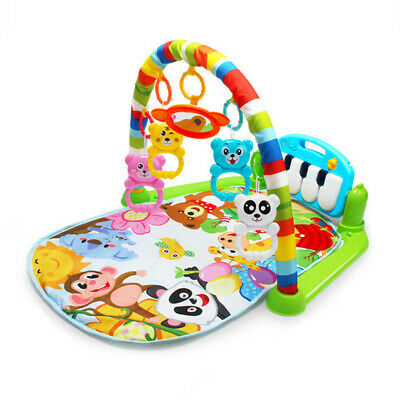Infant Baby Musical & Light Gym Play Mat Lay & Play Fitness Fun Piano Gaming Toy