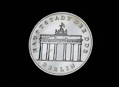 Gedenkmünze 5 Mark DDR 1986 Berlin Brandenburger Tor vz-st