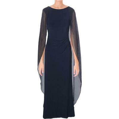 Lauren Ralph Lauren Womens Serina Navy Formal Evening Dress Gown 6 BHFO 9319