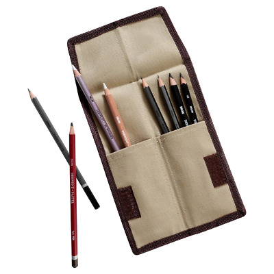 Derwent Pencil Wrap Pocket Artist Case Storage Pouch Purse Tough Canvas Material