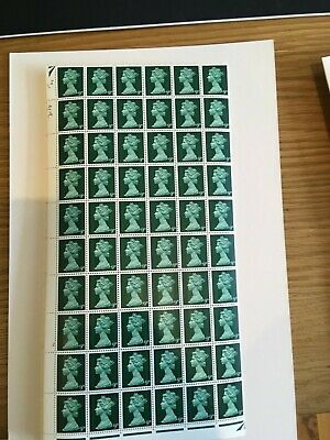 1967 1969 Stamps - Machin Complete Sheet - Pre Decimal - 9d Green 240 stamps