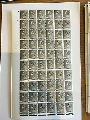 1967 1969 Stamps  Machin Complete Sheet - Pre Decimal - 10d Drab 240 stamps