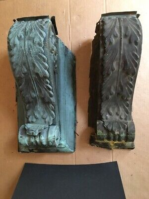 2 Huge Antique Copper Corbels With 8 Modern Ones From W F Norman Co