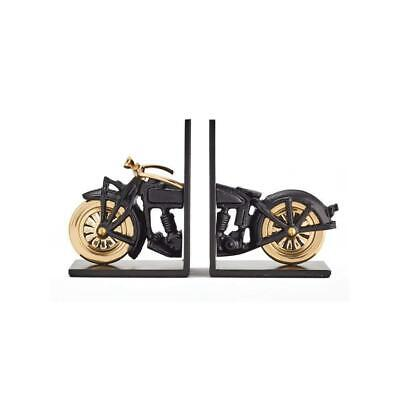 Pendulux Motorcycle Bookends Aluminum - Vintage Look