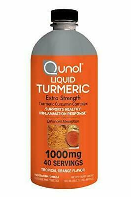 Liquid Turmeric Curcumin 1000mg Qunol Enhanced Absorption Formula 20oz (600ml)