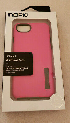 Case IPH-1465-PKC Incipio DualPro for iPhone 7/6/6s Pink with Gray/Charcoal