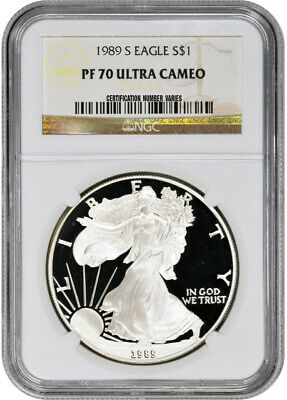 1989-S American Silver Eagle Proof - NGC PF70 UCAM