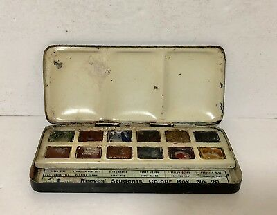 Antique Vintage Reeves Students Colour Box No.20 Artists Paint Palette