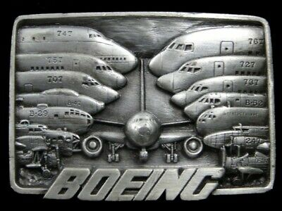 Sb07174 *Nos* Vintage 1984 *Boeing Aircraft Company Fleet* Advertisement Buckle