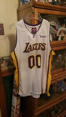 b173ab5bcc9 LOS ANGELES LAKERS NBA XL Jersey 00 Wish Staples Center SGA Basketball Kobe