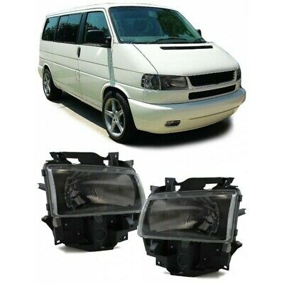 2 feux optique phare noir VW T4 Transporter Multivan Bus du 01/1996 au 03/2003