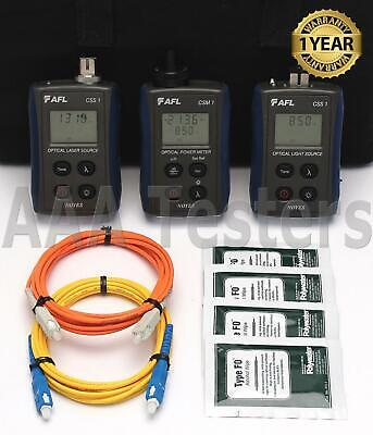 AFL Noyes CKSM-2 SM MM Fiber Optic Loss Test Set CKSM 2 CSM 1 CSS 1