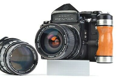 Asahi Pentax 6x7 MLU Medium Format SLR - 2 Lens Kit: 55mm f/4, 150mm f/2.8 #P145