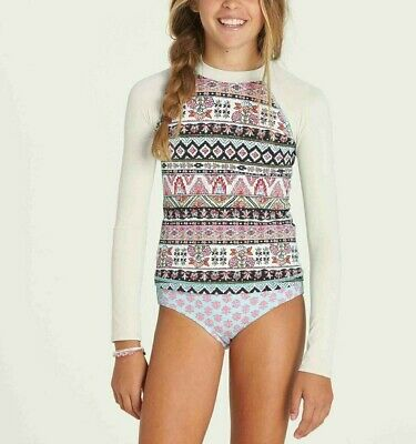 2def5bcea4064 Billabong Girls' Moon Tribe Long-Sleeve Rashguard Set Multi Size 8