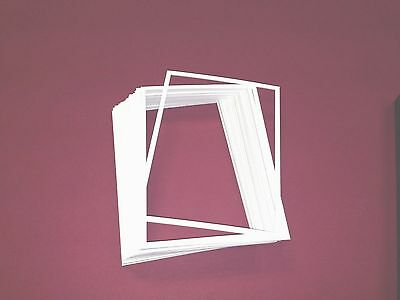 """CR Framing, Pack Of  5  (9""""X 12"""") Spacers Picture Frames Acid Free Mats White"""