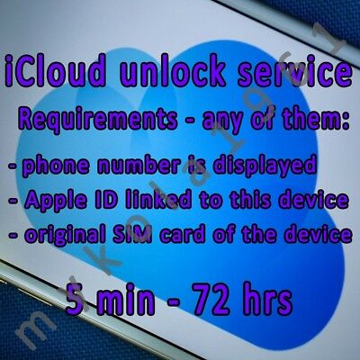 iCloud Unlock Removal Service Premium All iPhone iPad Permanent