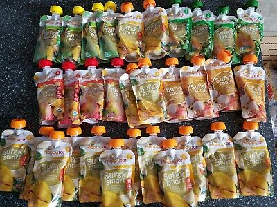 Happy Tot Organic Stage 4 Super Foods Variety Pack, 4.22 Ounce Pouch Pack of 32