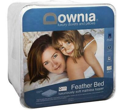 Feather Bed Mattress Topper by Downia Brand New 5% Duck Down & 95% Duck Feather