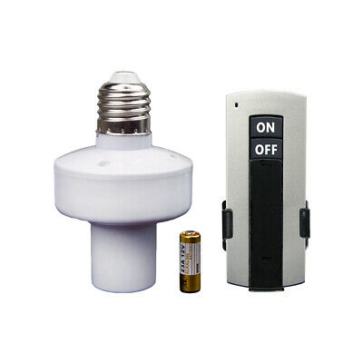 E27 Screw Base Wireless Remote Control Light Bulb Holder Cap Socket Switch