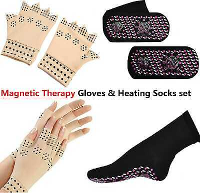 Health Magnetic Anti Arthritis Compression Therapy Gloves Hand Pain Relief Care