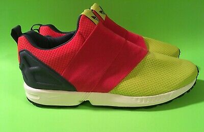 pretty nice f7bf4 a358a ADIDAS ZX FLUX Slip-On Solar Yellow - Red Mens Trainers Shoes B34456.