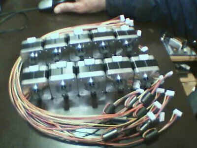 Lot of 10 pcs Nema17 stepper motors & wires. Makes great generator