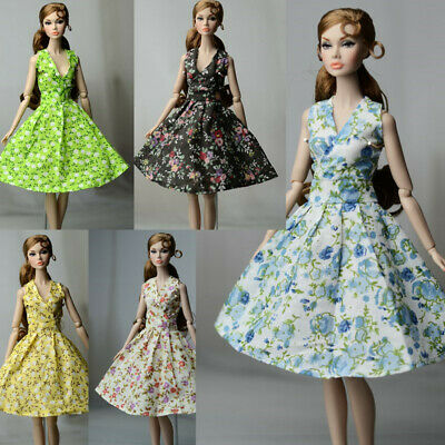 3 PCS Random Fashion Flower Skirt  Evening Dress Outfit Clothes For 11.5in.Doll