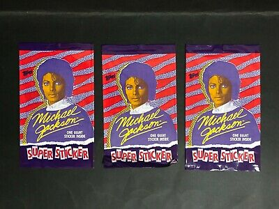 Michael Jackson Lot Of 3 Giant Sticker Packs By Topps