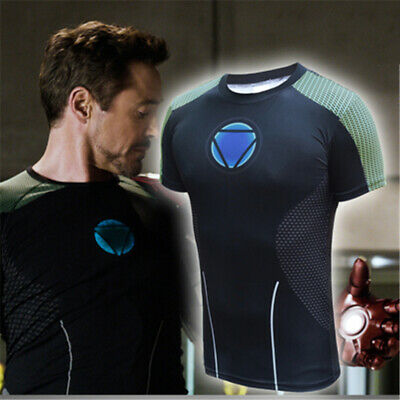 3D Iron Man 3 Tony Stark Arc Reactor Men Short/Long T-Shirt Cosplay Tops Tee HOT