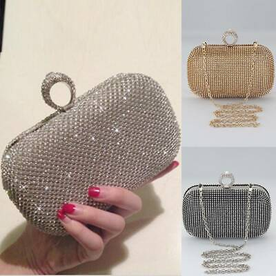 Women Shimmering Encrusted Evening Bag Clutch Purse Sales Prom Handbags