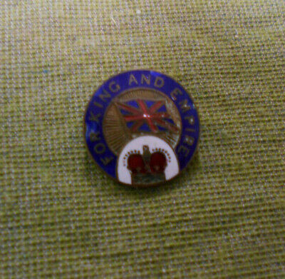 #D319.   For King And Empire  Lapel  Badge