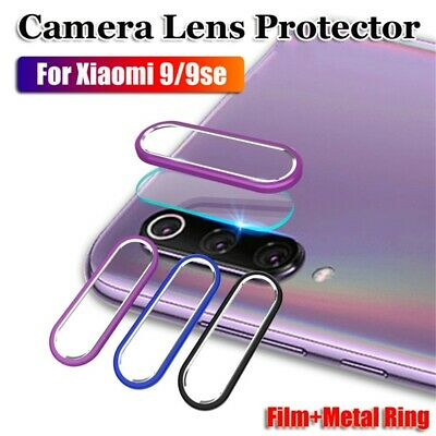 For Xiaomi Mi 9/9 se Camera Lens Protector Tempered Glass Film Metal Ring Case