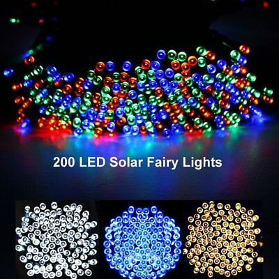 50-500 LED Solar Power Fairy Lights String Garden Outdoor Party Wedding Lamps UK