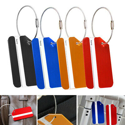 Suitcase Aluminium Metal Travel Luggage Tag Trendy Airplane Luggage Tag Bag 4Pcs