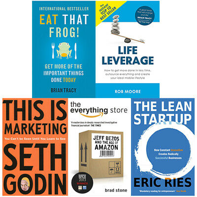 This is Marketing,Lean Startup,Everything Store 5 Books Collection Set NEW