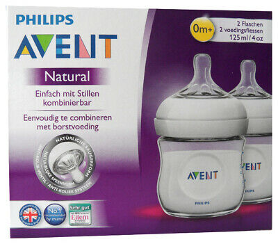 Philips Avent SCF690/27 Naturnah-Flasche 125 ml 2er Pack transparent aus Kunstst