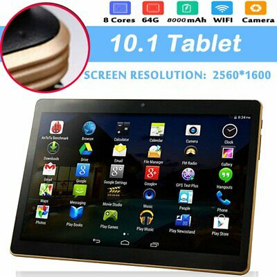 """10.1"""" Android 6.0 Tablet PC 4+64GB Octa Core WIFI Phone Pad Phablet 2Ghz Dj"""
