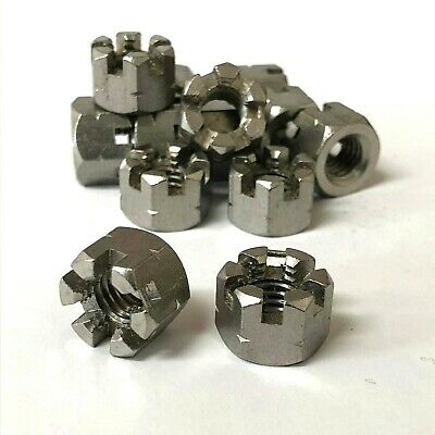 A2 Stainless Steel Castle Nuts M6 M8 M10 M12 Slotted Hex Nut Din 935