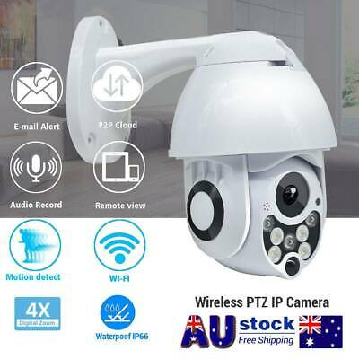 Wireless 1080P WIFI IP Camera Auto Tracking Outdoor CCTV HD Home Security IR Cam