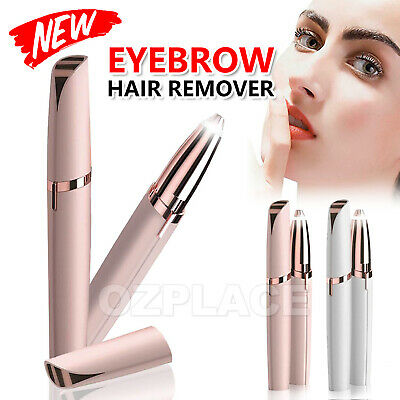 Electric Finishing Touch Brows Hair Remover Face Eyebrow LED Light AU