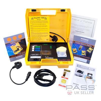 NEW Martindale EasyPAT 1600 Manual PAT Tester - Simple To Use, entry-level / UK