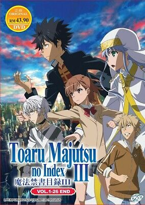 DVD Anime A Certain Magical Index III (Season 3) (1-26 End) English Audio Dubbed