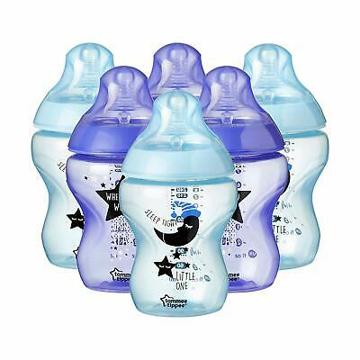 Tommee Tippee Closer to Nature Decorated Feeding Bottles, 260 ml, 6 Count