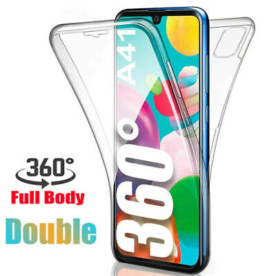 For Samsung Galaxy A70 A50 A40,2 in 1 360° Full Protect Clear TPU+PC Case Cover