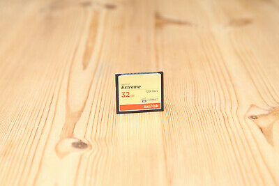 SanDisk Extreme 32GB Compact Flash CF Card 120MB/s in Excellent Condition