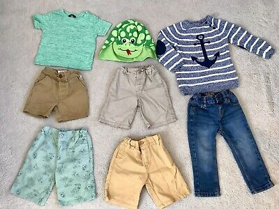 Shorts Bundle, Boys 18-24, 1.5-2, Jeans, Hat, Next, H&M, TWINS