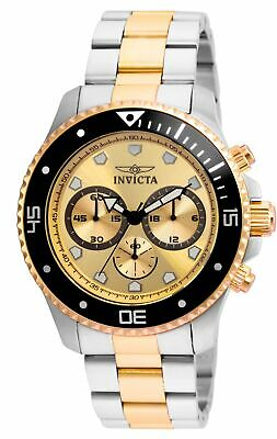 Invicta 21790 Pro Diver Men's Chronograph 45mm Stainless Steel Gold Dial Watch